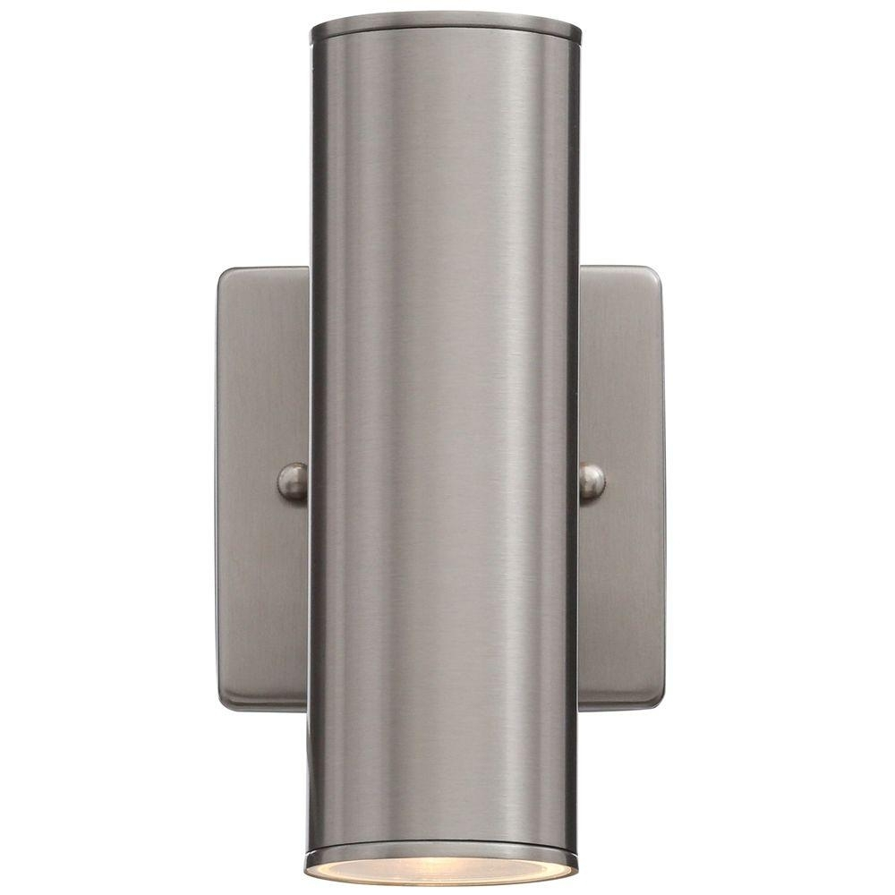 Home Decorator's Collection Riga 2 Light Stainless Steel Outdoor For Outdoor Wall Mounted Lighting (View 8 of 15)