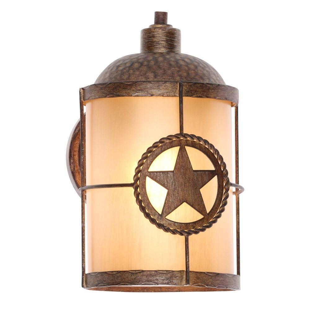 Home Decorators Collection Springbrook 1 Light Rustic Outdoor Wall Within Rustic Outdoor Wall Lighting (#7 of 15)