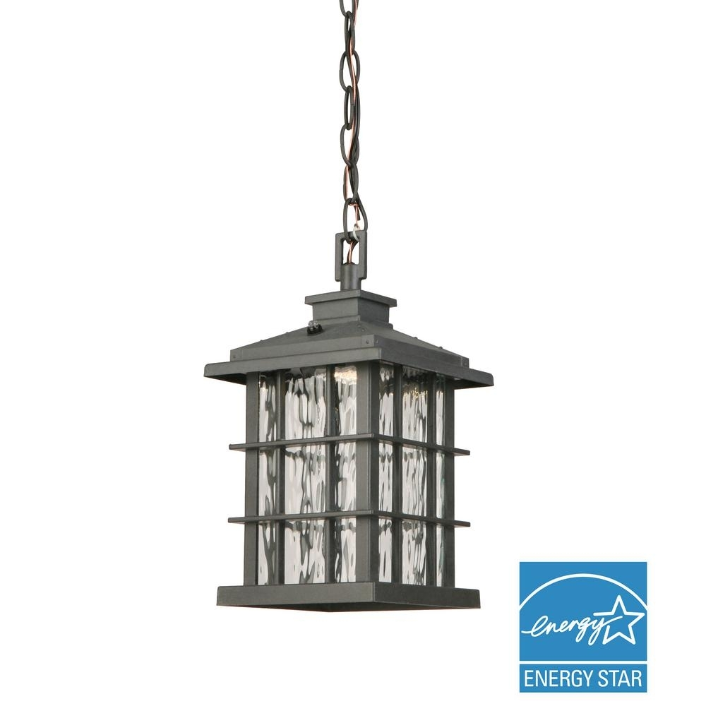 Home Decorators Collection Summit Ridge Collection Zinc Outdoor For Outdoor Hanging Lights At Home Depot (#7 of 15)