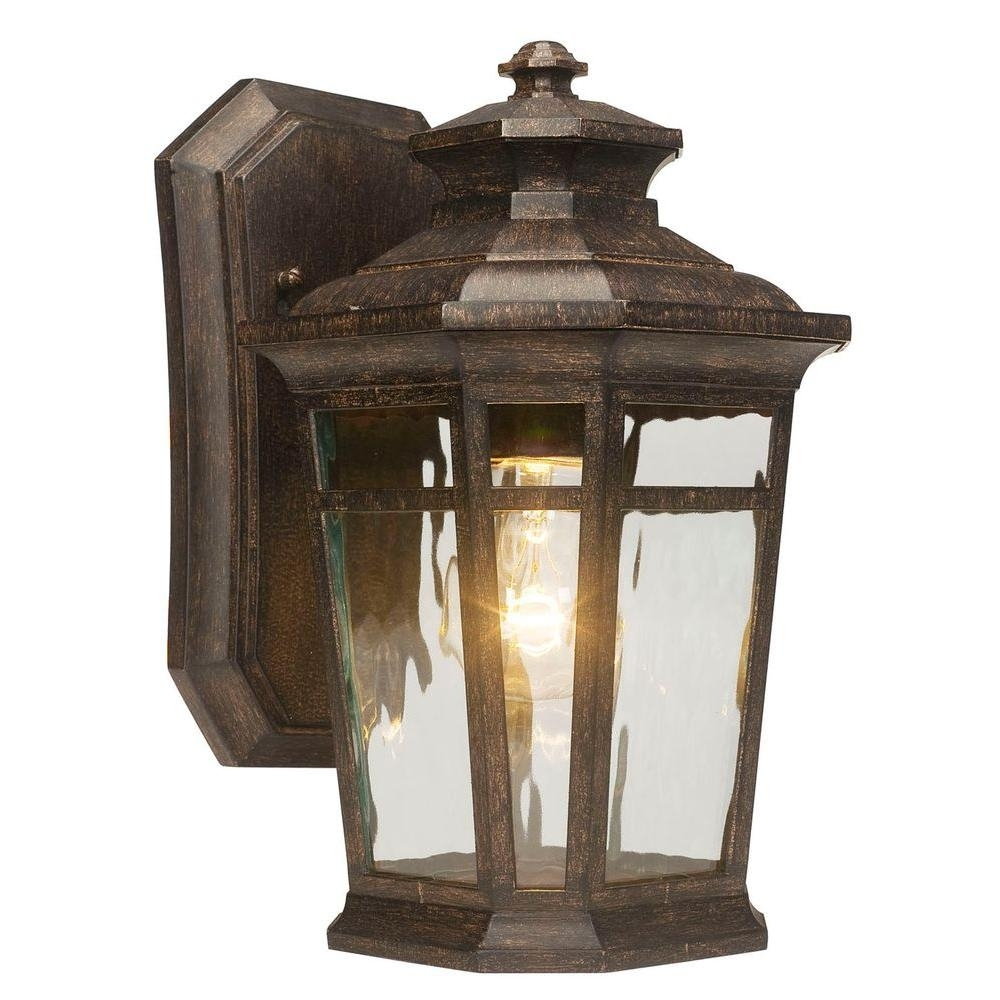 Home Decorators Collection Waterton 1 Light Dark Ridge Bronze Intended For Large Outdoor Wall Light Fixtures (#9 of 15)
