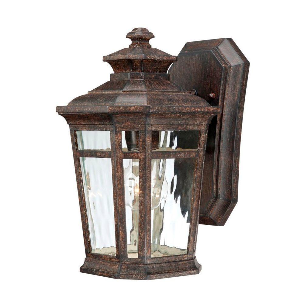 Home Decorators Collection Waterton 1 Light Dark Ridge Bronze With Regard To Bronze Outdoor Wall Lights (#8 of 15)