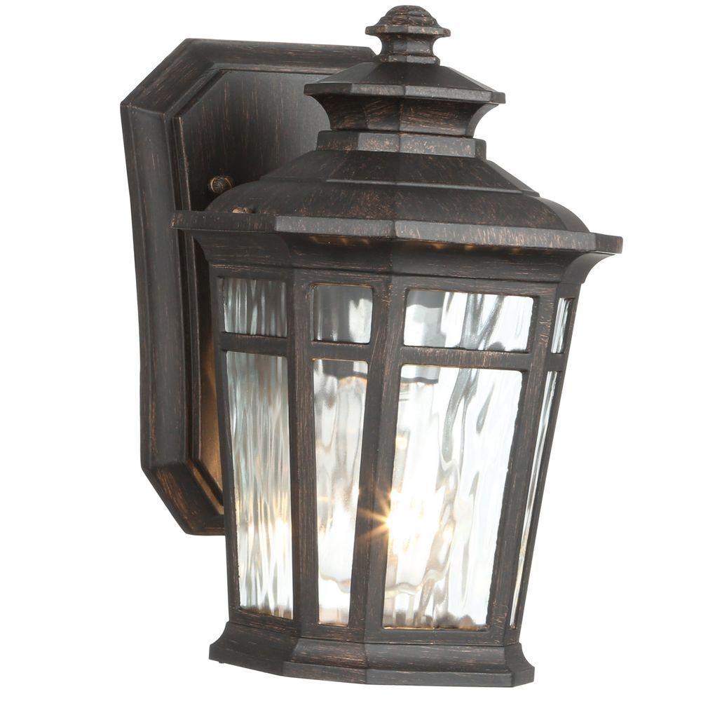 Home Decorators Collection Waterton 1 Light Dark Ridge Bronze Within Bronze Outdoor Wall Lighting (#10 of 15)