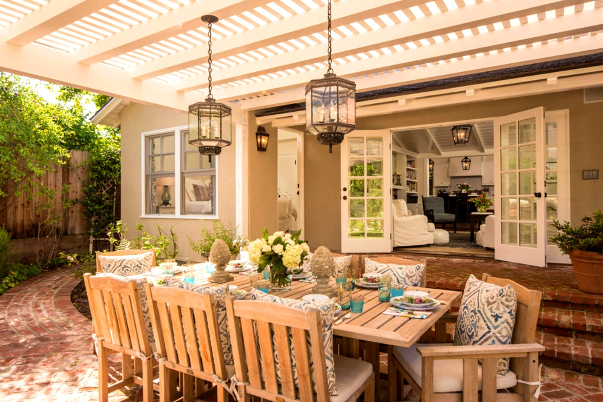 Popular Photo of Outdoor Hanging Lights For Pergola