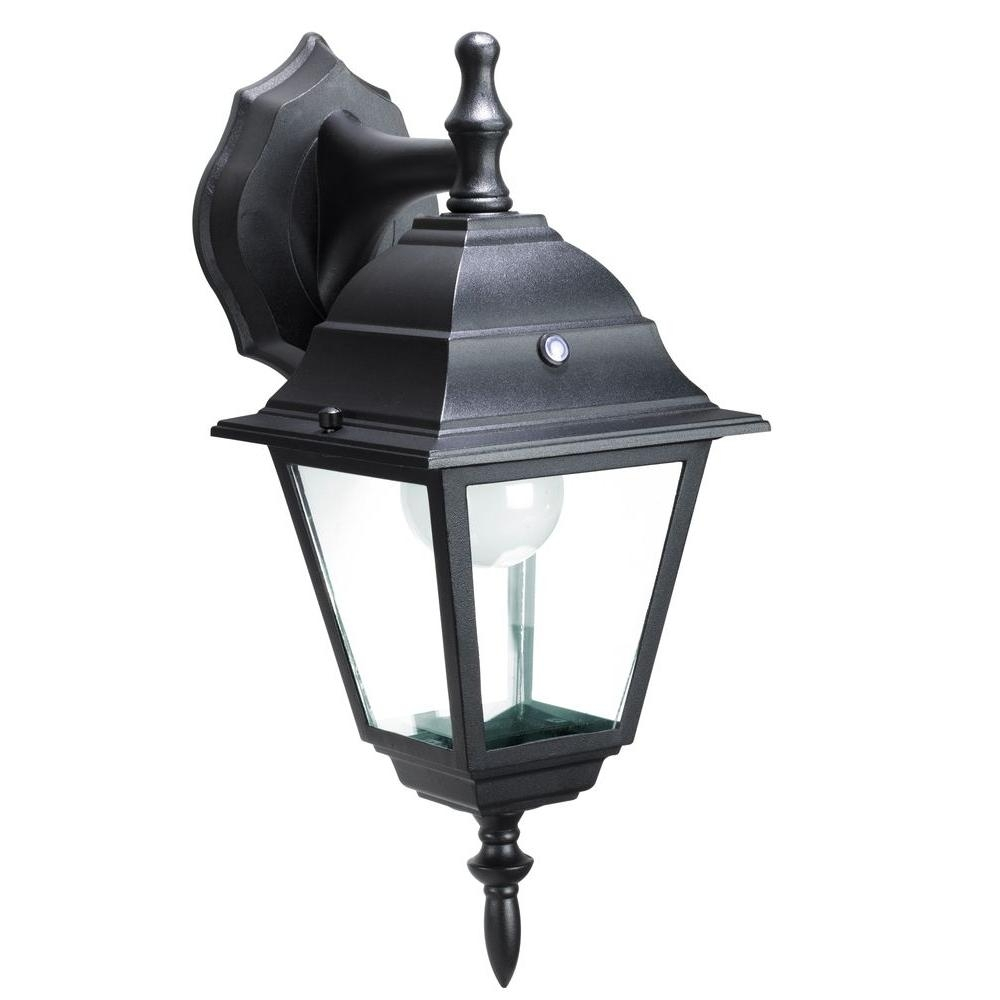 Honeywell Black Outdoor Led Wall Mount Lantern Ss0501 08 – The Home Pertaining To Endon Lighting Outdoor Wall Lanterns (#14 of 15)