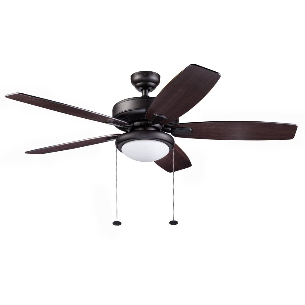 Honeywell Blufton Outdoor Ceiling Fan, Bronze, 52 Inch – 10283 Pertaining To Outdoor Ceiling Fans With Lights At Walmart (#10 of 15)