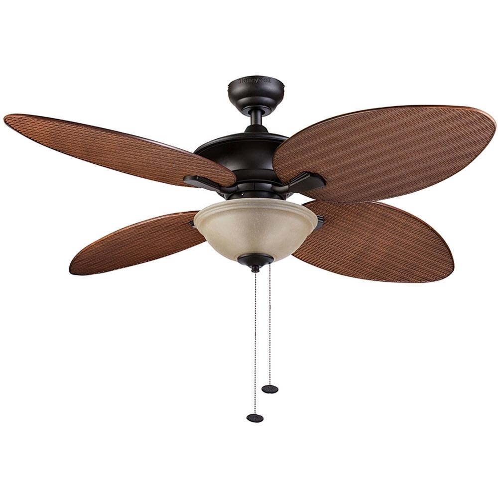 Honeywell Sunset Key Outdoor & Indoor Ceiling Fan, Bronze, 52 Inch Pertaining To Bronze Outdoor Ceiling Fans With Light (#8 of 15)