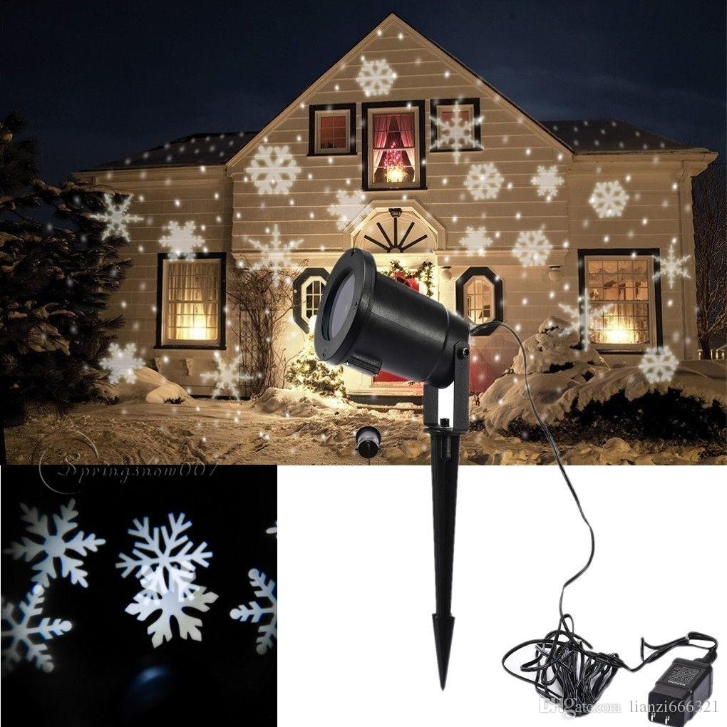 Hot New Moving Sparkling Led Snowflake Landscape Laser Projector Pertaining To Outdoor Wall Xmas Lights (#6 of 15)