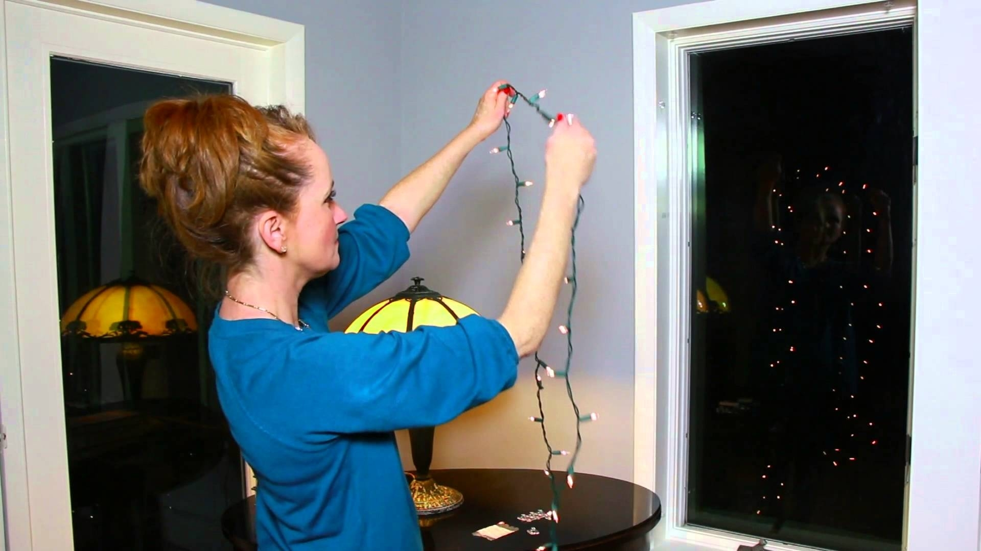 How To Attach Christmas Lights To The Inside Of A Window : Christmas With Hanging Outdoor Christmas Lights Around Windows (#11 of 15)
