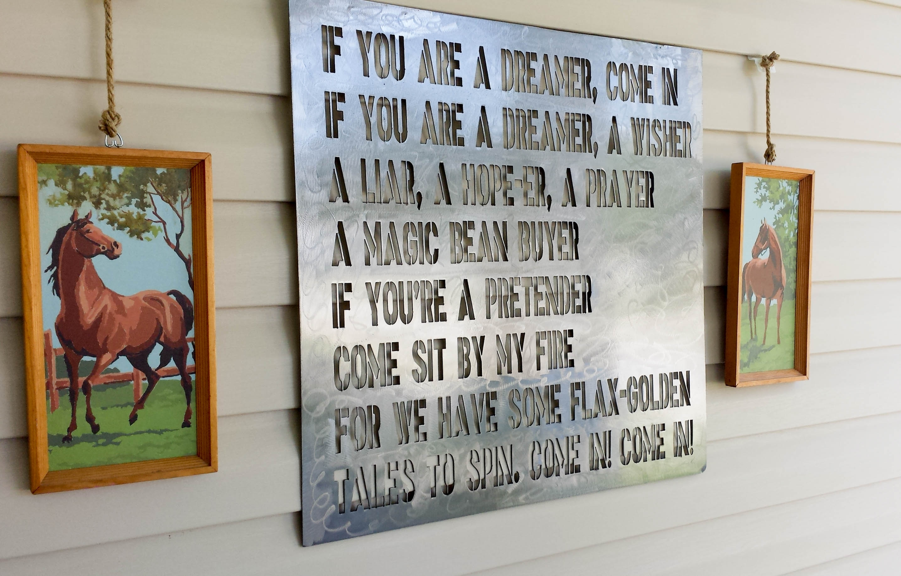 How To Hang Decor On Vinyl Siding Our Storied Home Shel Silverstein With Regard To Hanging Outdoor Lights On Vinyl Siding (#5 of 15)