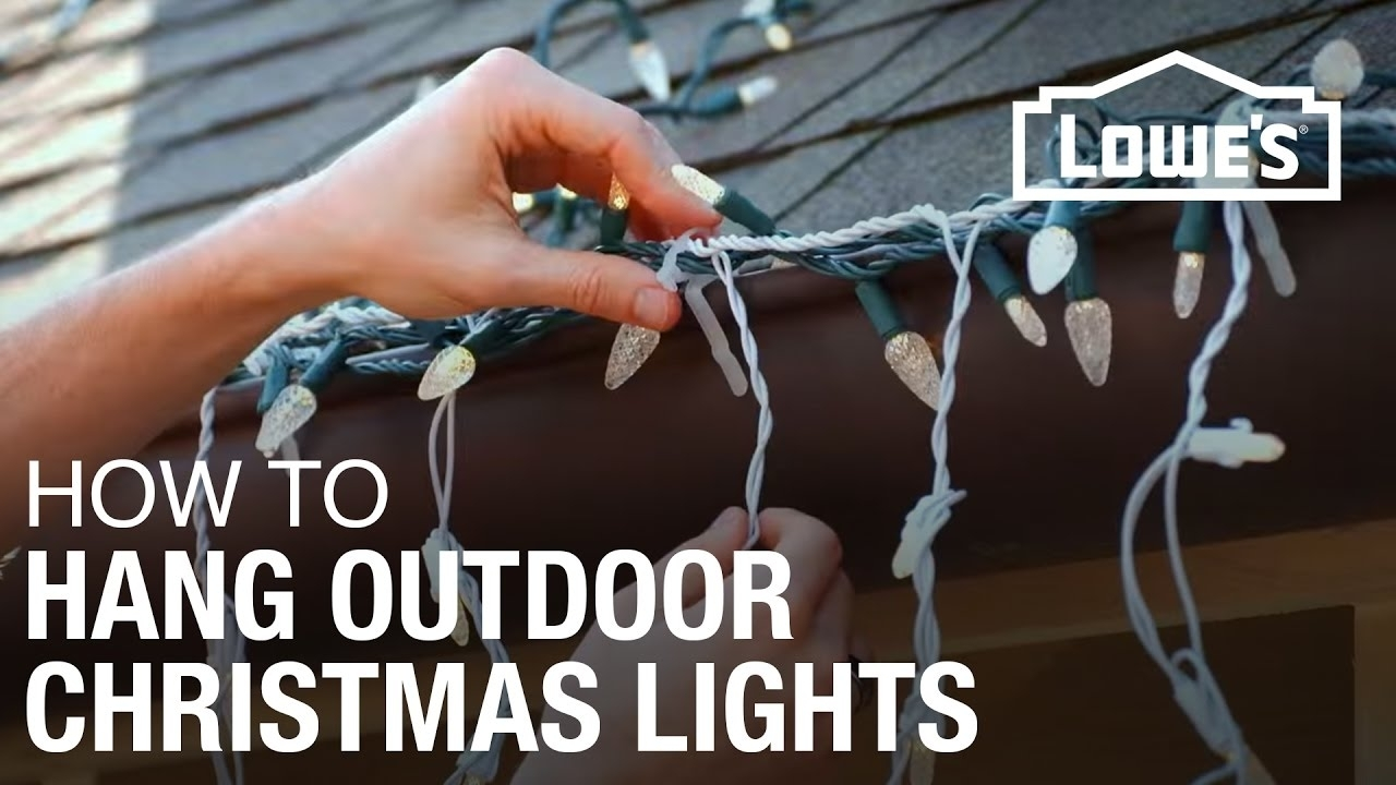 How To Hang Exterior Christmas Lights – Youtube In Hanging Outdoor Christmas Lights Hooks (#11 of 15)
