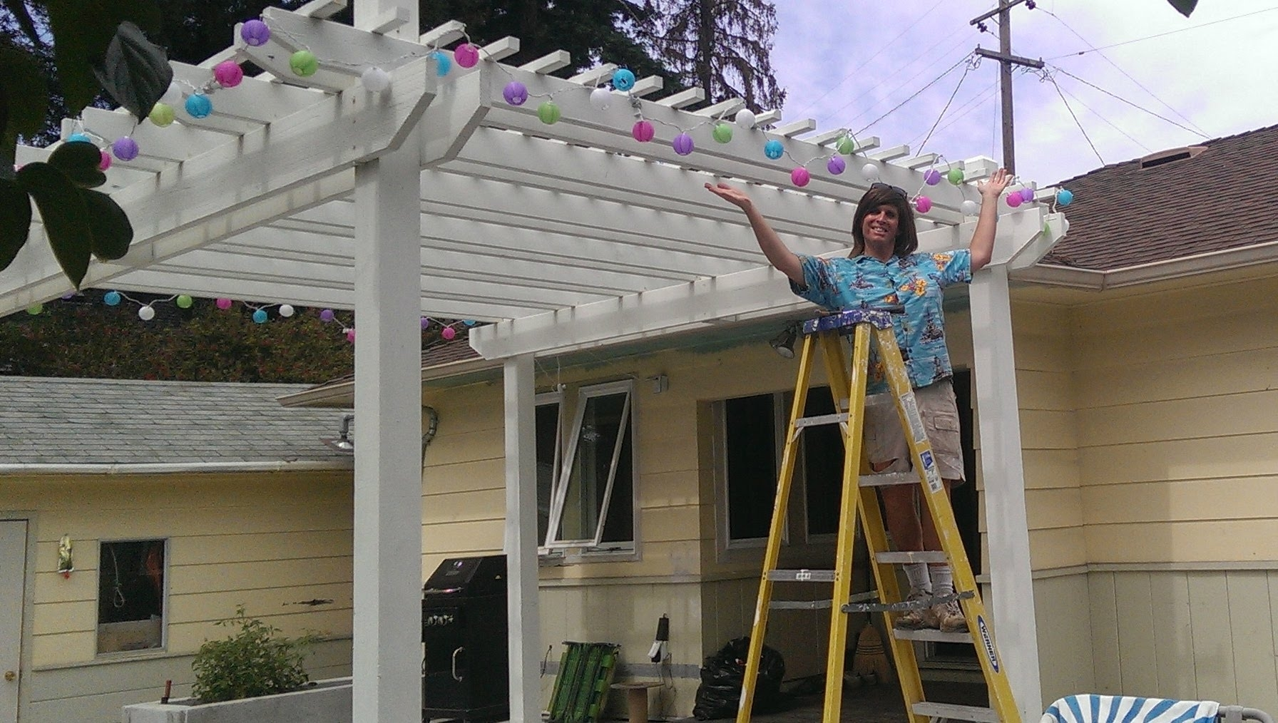 How To Hang Outdoor Party Lightsweekend Warrior Project – Youtube Regarding Hanging Outdoor Lights For A Party (#7 of 15)