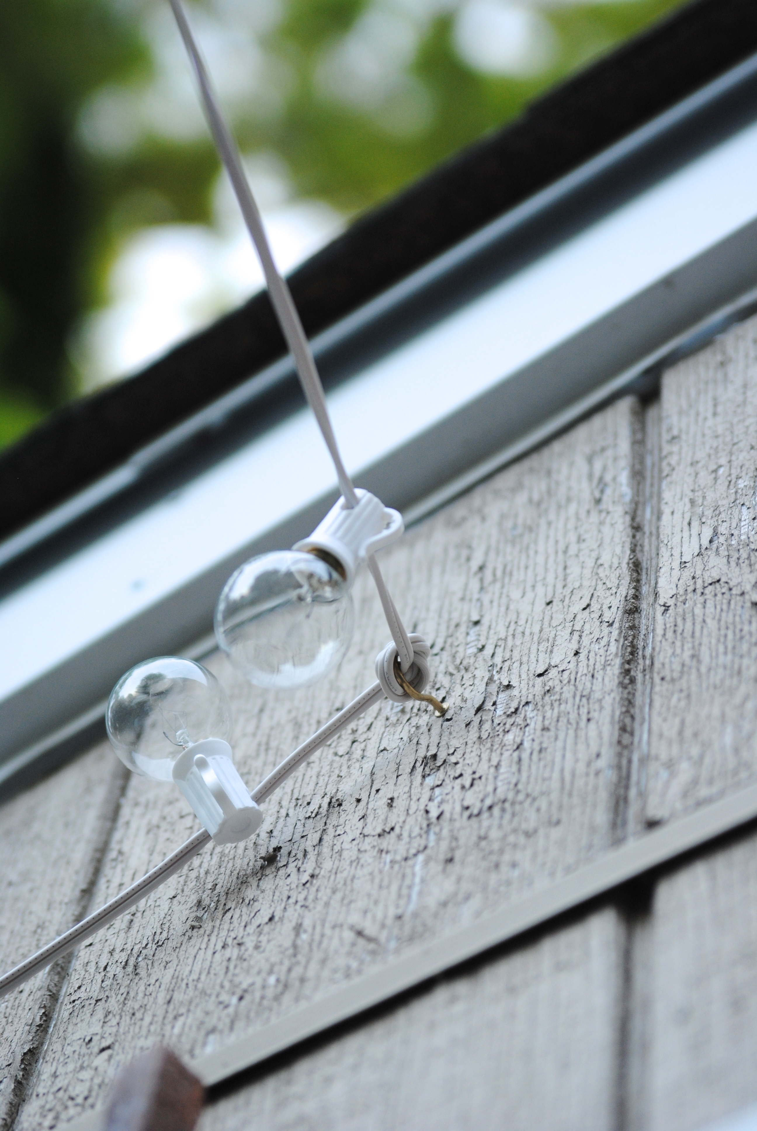 How To Hang Outdoor String Lights (The Deck Diaries, Part 3 For Hanging Outdoor Lights On Stucco (#11 of 15)