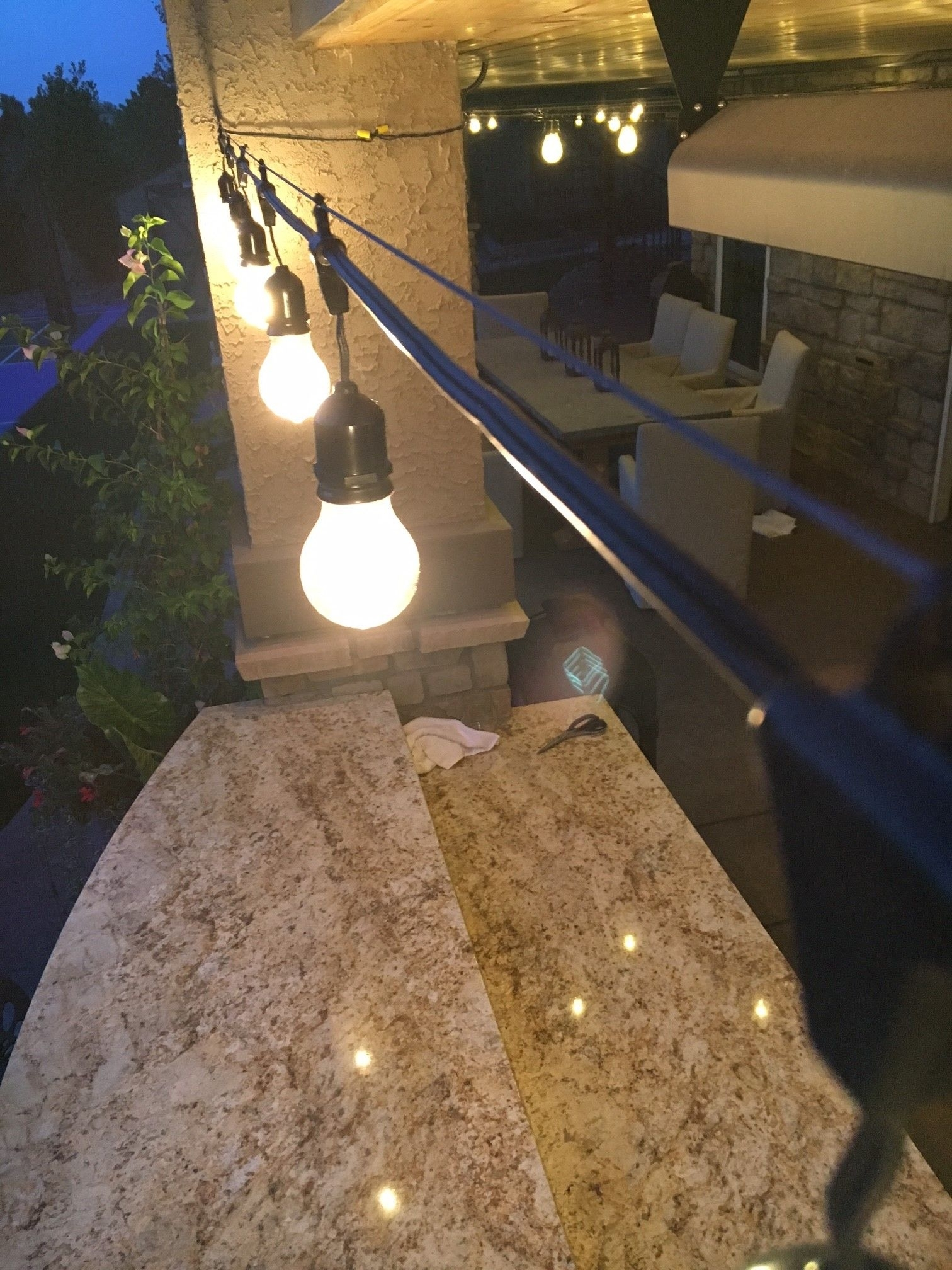 How To Hang Outdoor String Lights Using A Guide Wire … | Pinteres… Pertaining To Outdoor Hanging Pool Lights (#8 of 15)