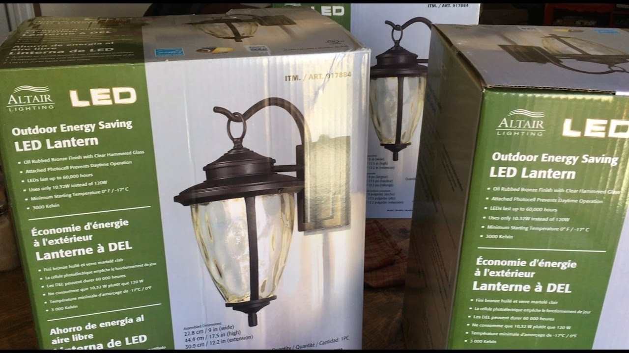 How To Install Outdoor Light Fixture – Altair Led Outdoor Energy Throughout Outdoor Hanging Lights At Costco (#9 of 15)