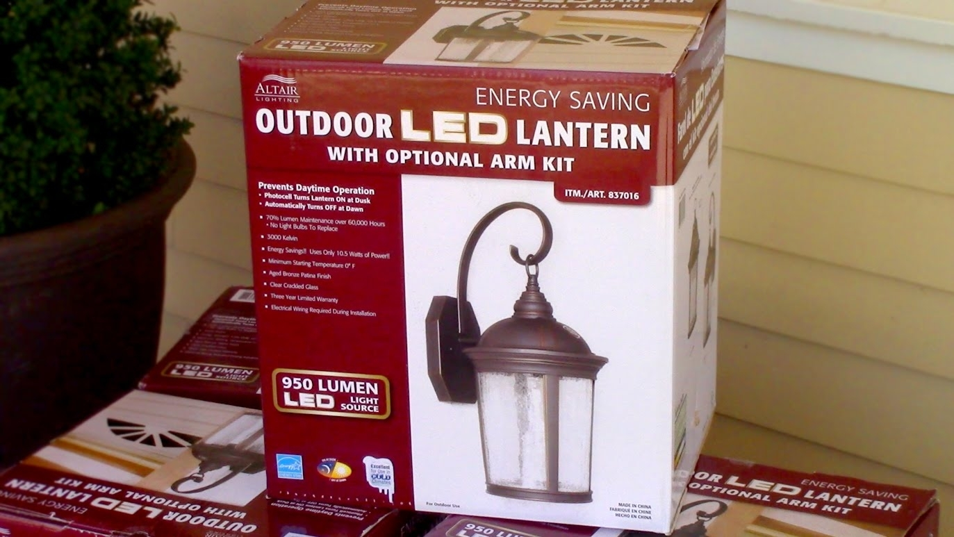 How To Install Outdoor Light Fixture – Costco's Outdoor Led Porch Pertaining To Outdoor Hanging Lights At Costco (#10 of 15)