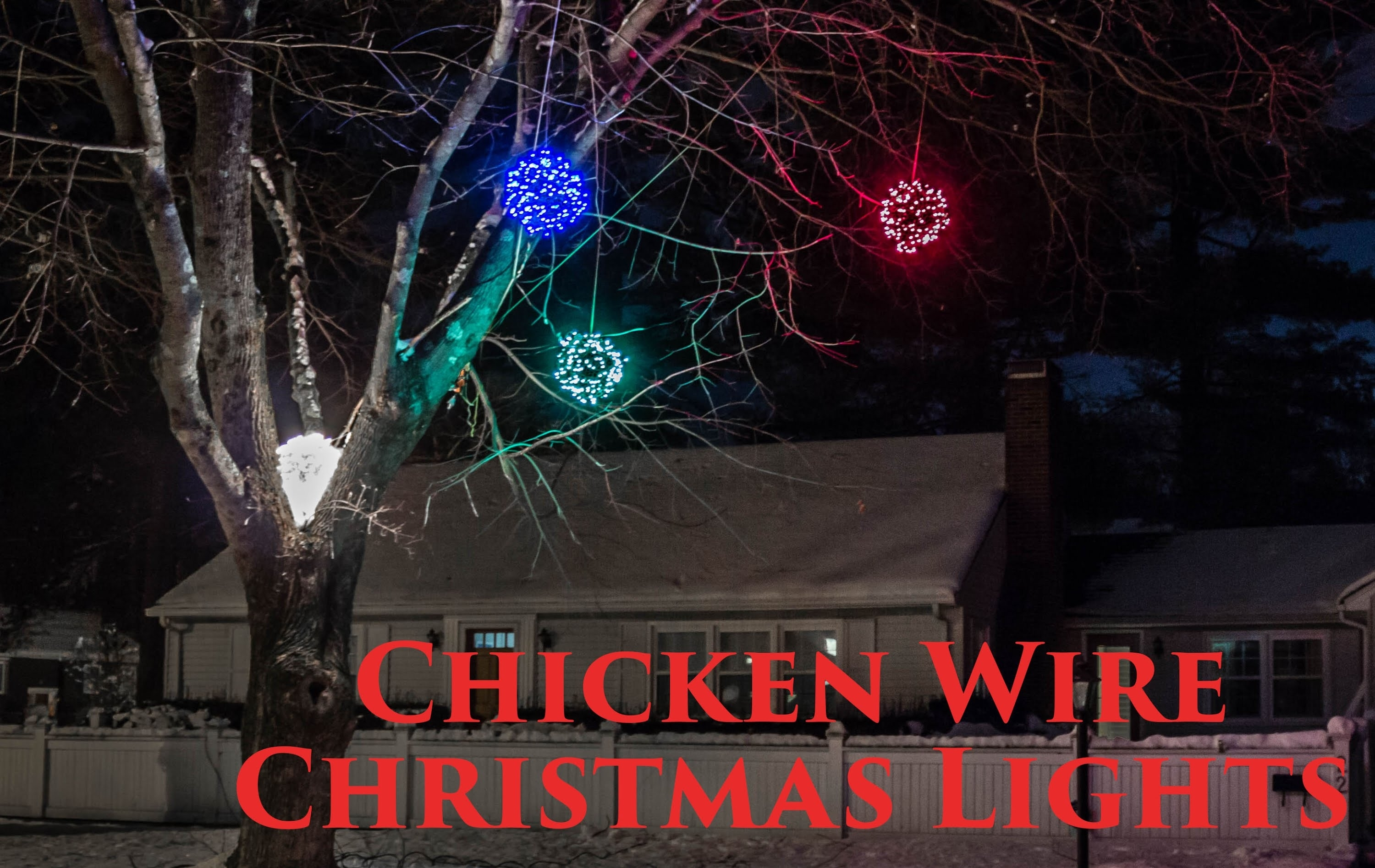 How To Make Lighted Chicken Wire Christmas Balls, Diy Outdoor Inside Outdoor Hanging Christmas Light Balls (#10 of 15)