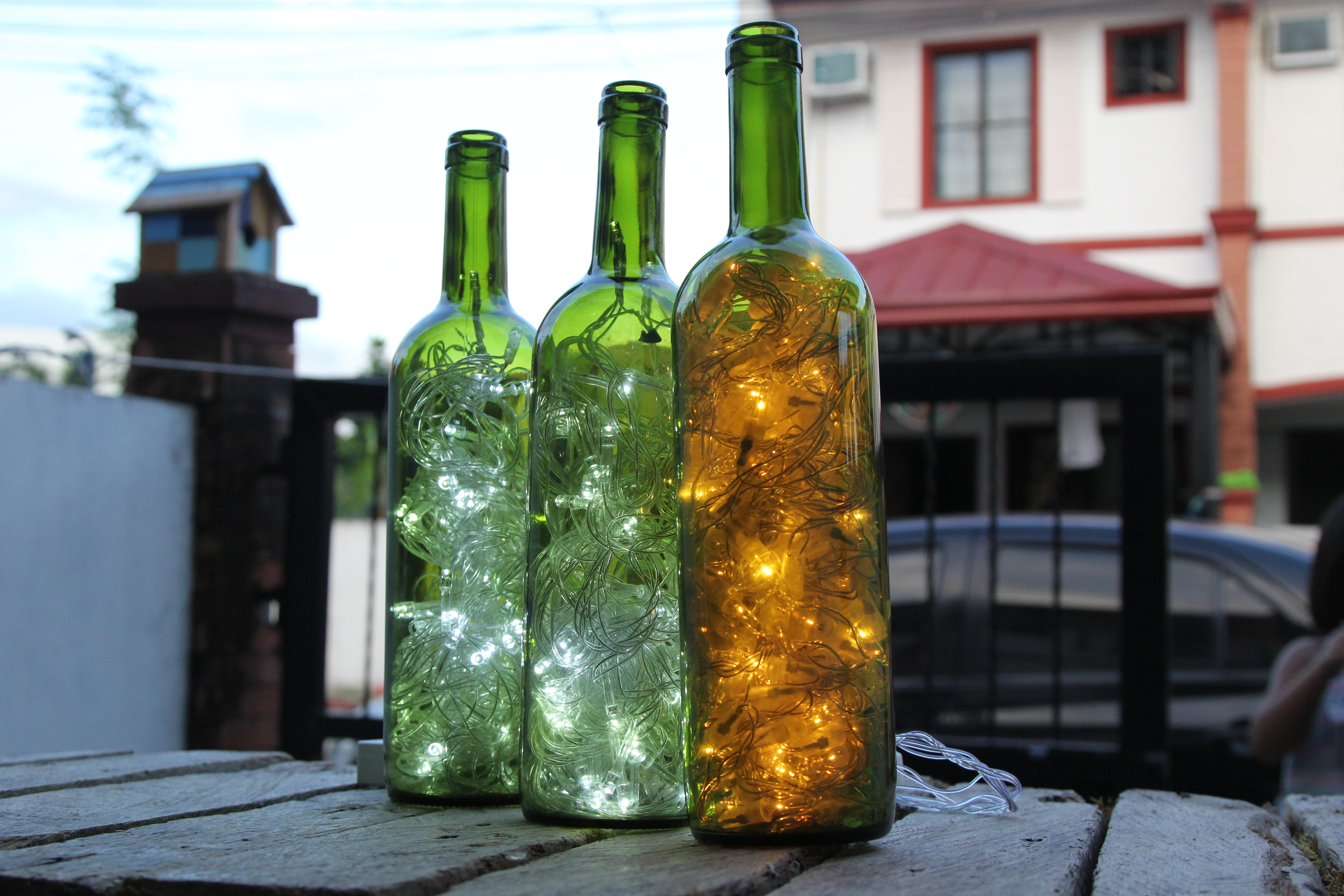 How To Make Wine Bottle Accent Lights: 15 Steps (With Pictures) With Regard To Making Outdoor Hanging Lights From Wine Bottles (#10 of 15)