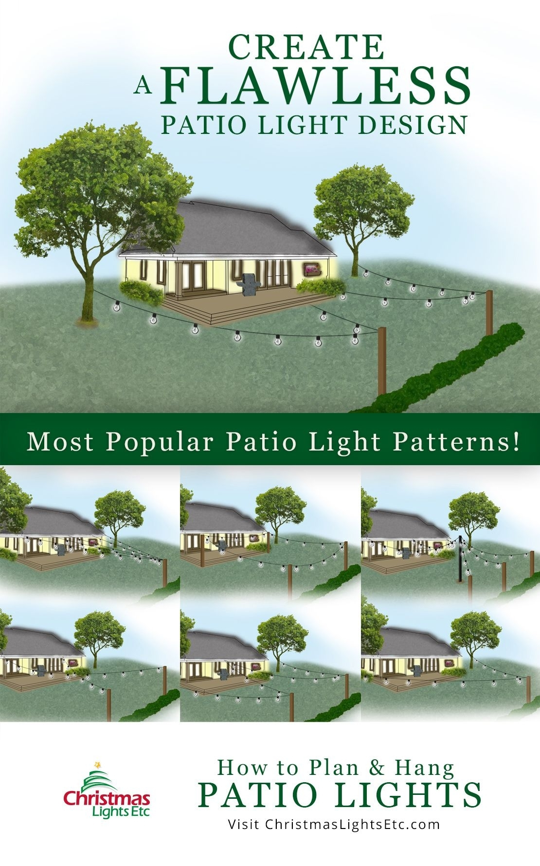 How To Plan And Hang Patio Lights | Patio String Lights, Patio In Hanging Outdoor Lights On Stucco (#13 of 15)