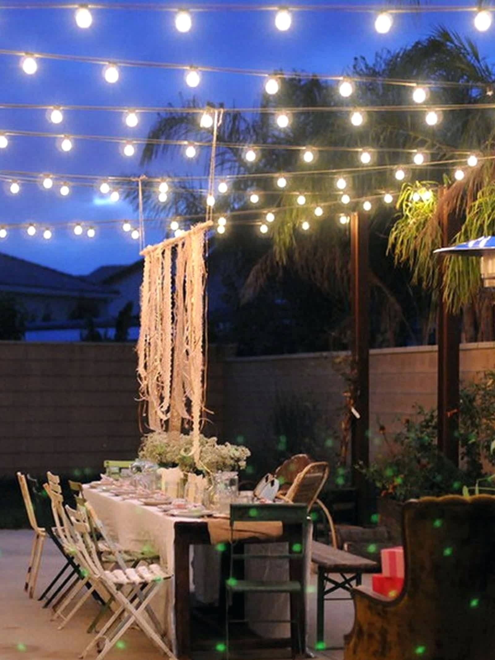 How To String Patio Lights Unique String Lights With Timer Regarding Outdoor String And Patio Lights (View 10 of 15)