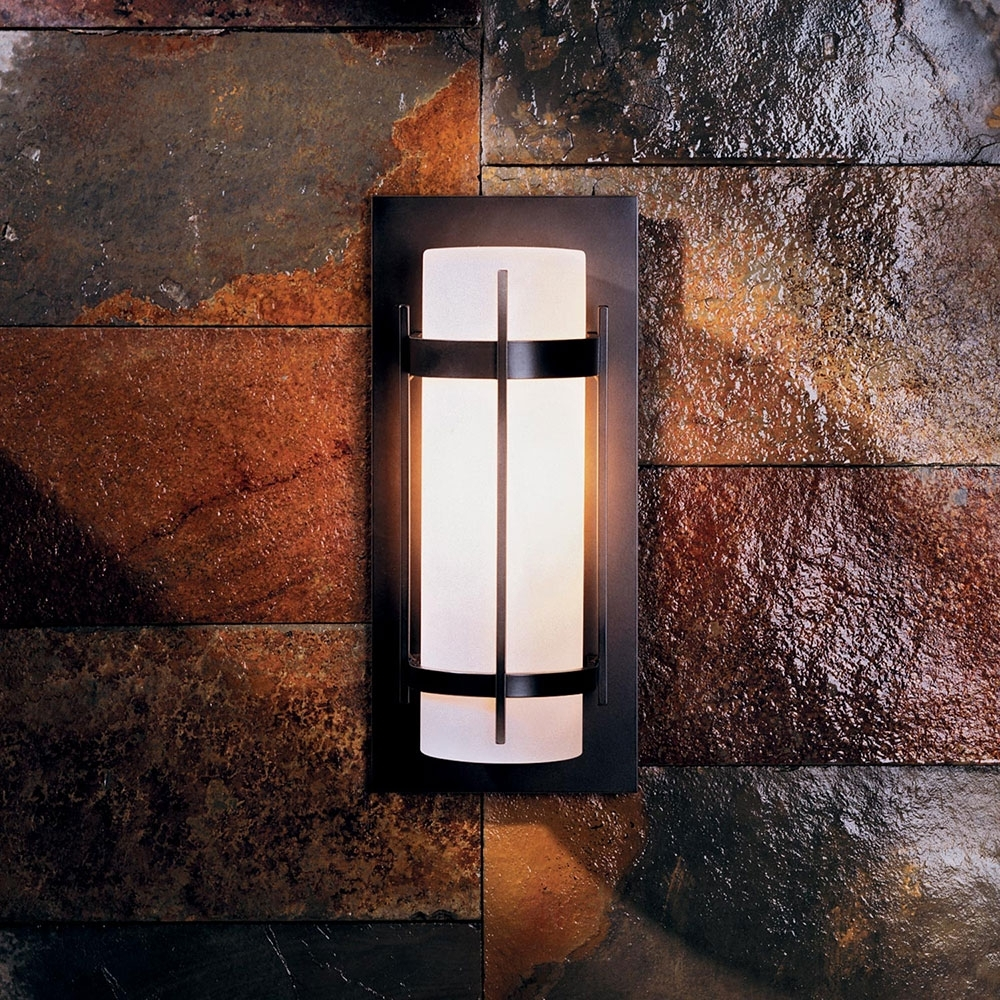 Hubbardton Forge 305892 Banded Led Outdoor Wall Sconce Lighting With Regard To Outdoor Wall Led Lighting Fixtures (#3 of 15)