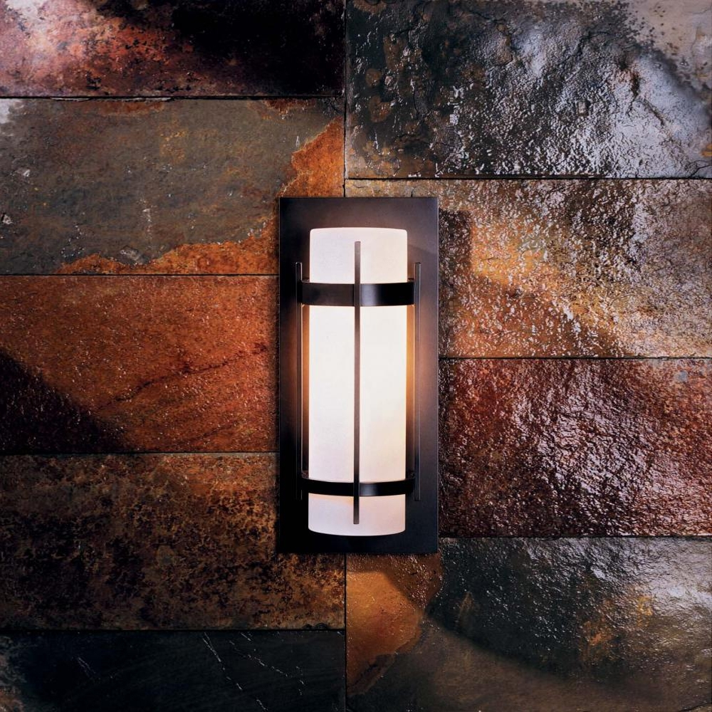 Hubbardton Forge 305893 Banded Led Exterior Wall Light Fixture – Hub With Cheap Outdoor Wall Lighting Fixtures (#3 of 15)