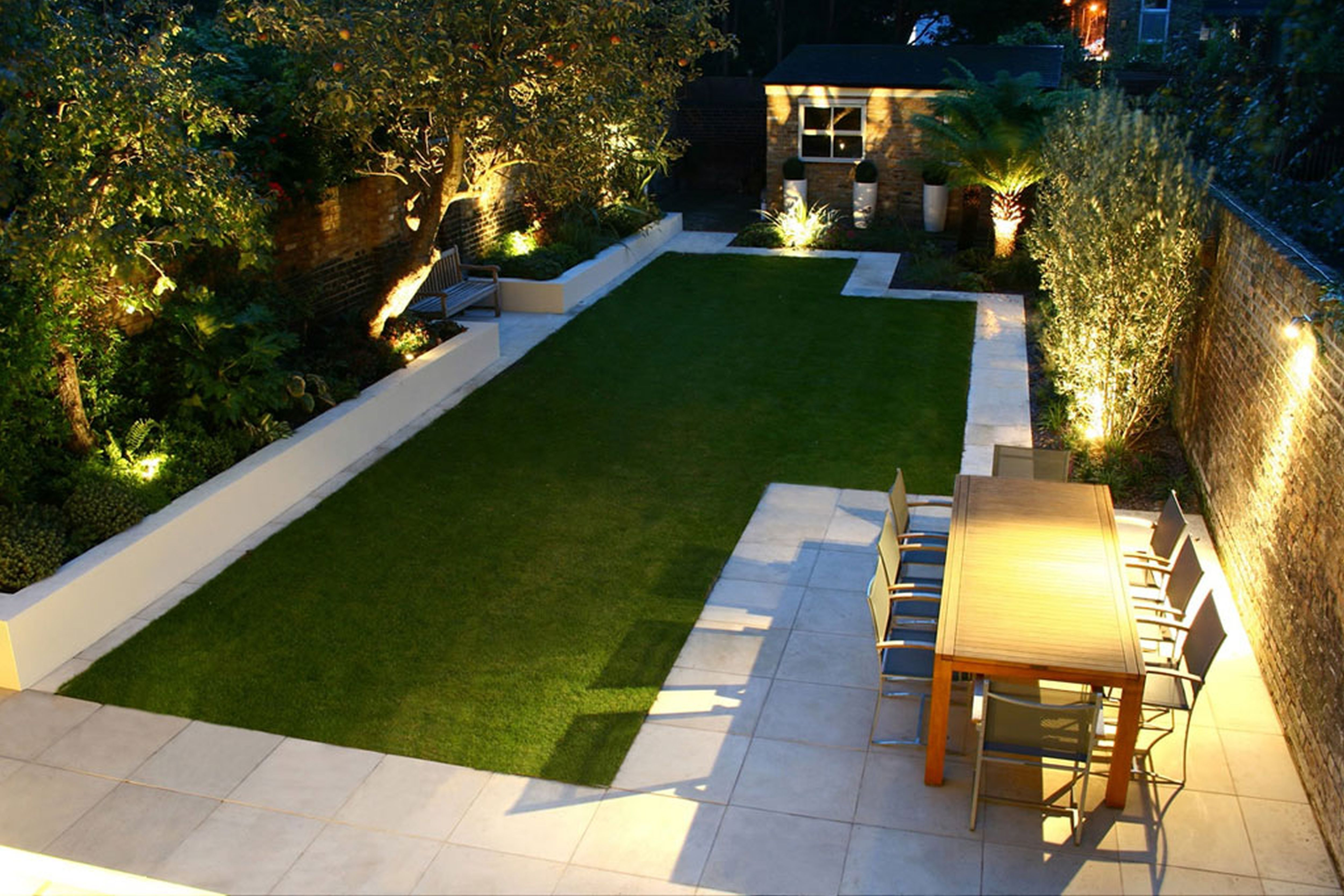 Ideas For Landscaping A Small Garden With Unique Wall Lights And Throughout Modern Garden Landscape Lighting (#10 of 15)