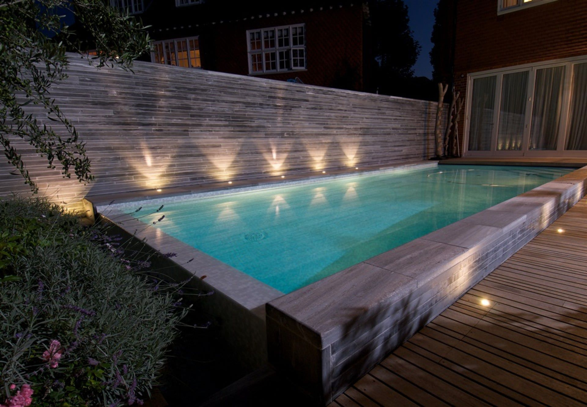 In Ground Swimming Pool / Concrete / Overflow / Outdoor – Hampstead Within Outdoor Hanging Pool Lights (#9 of 15)