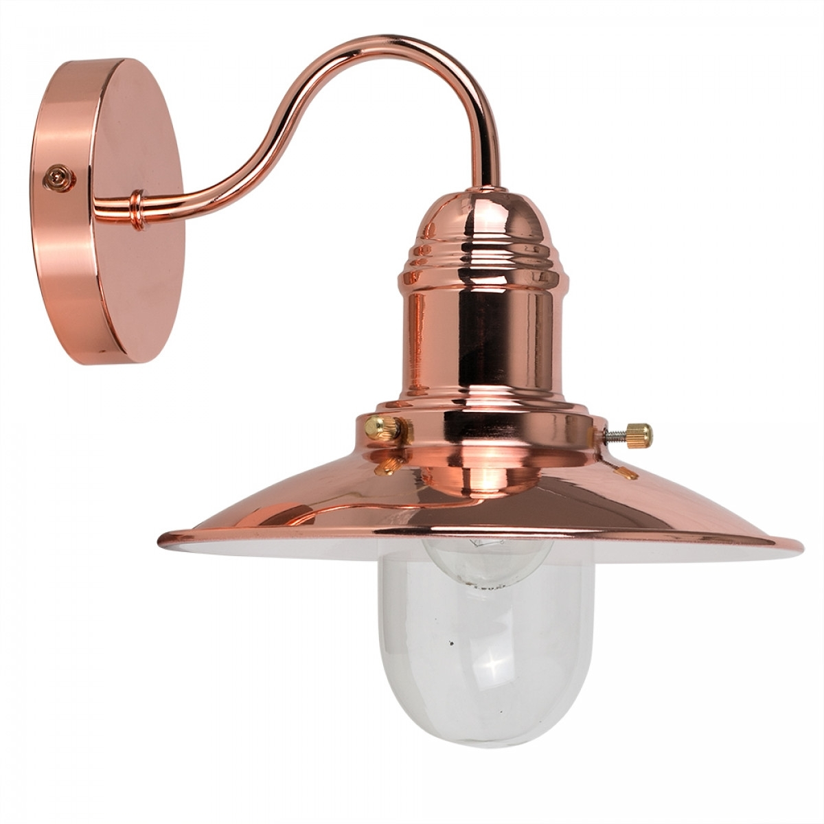 Industrial Style Fisherman's Wall Light In Copper | Iconic Lights Uk In Northern Ireland Outdoor Wall Lights (#10 of 15)