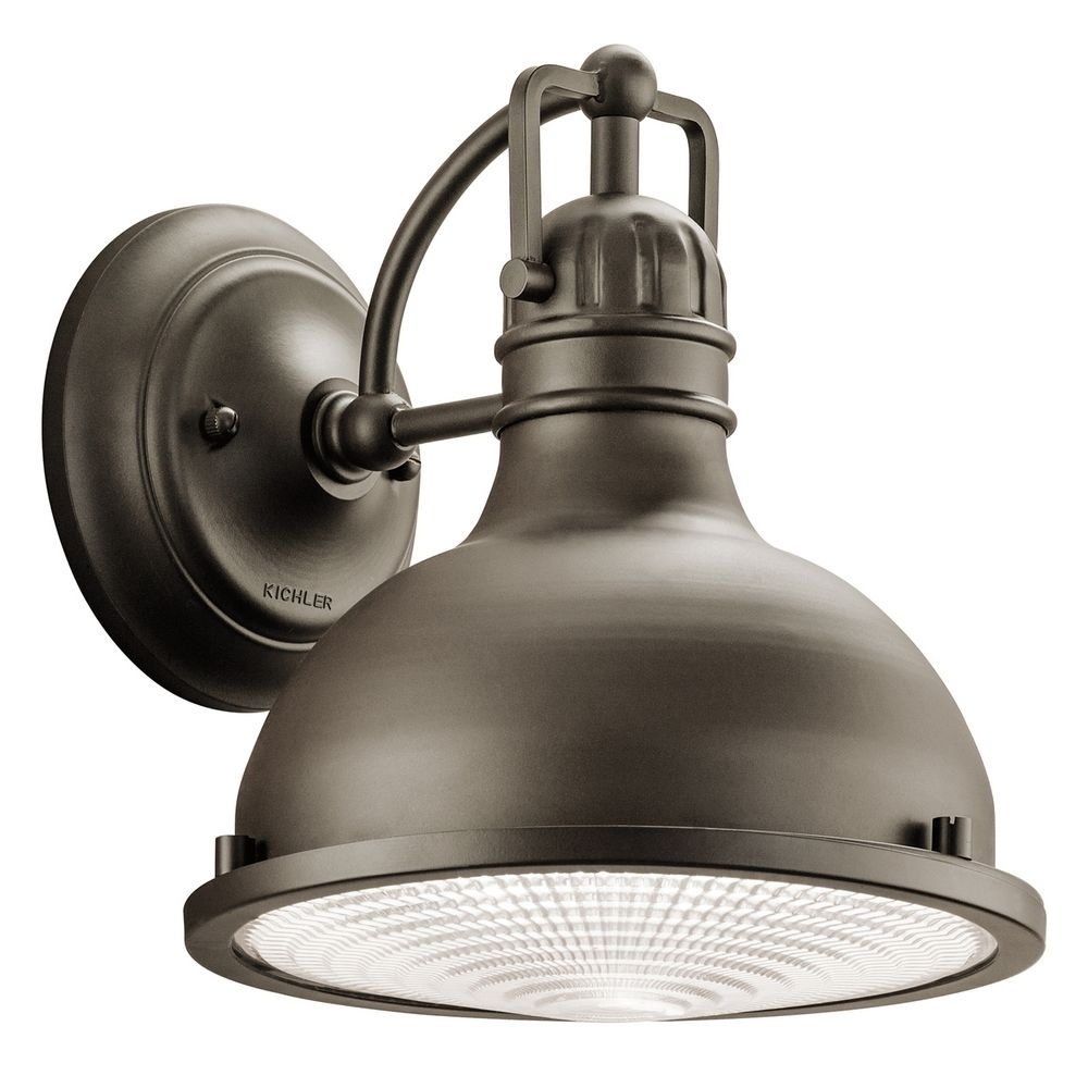 Industrial Style Led Outdoor Wall Light With Fresnel Diffuser In Outdoor Wall Lighting At Kichler (View 6 of 15)
