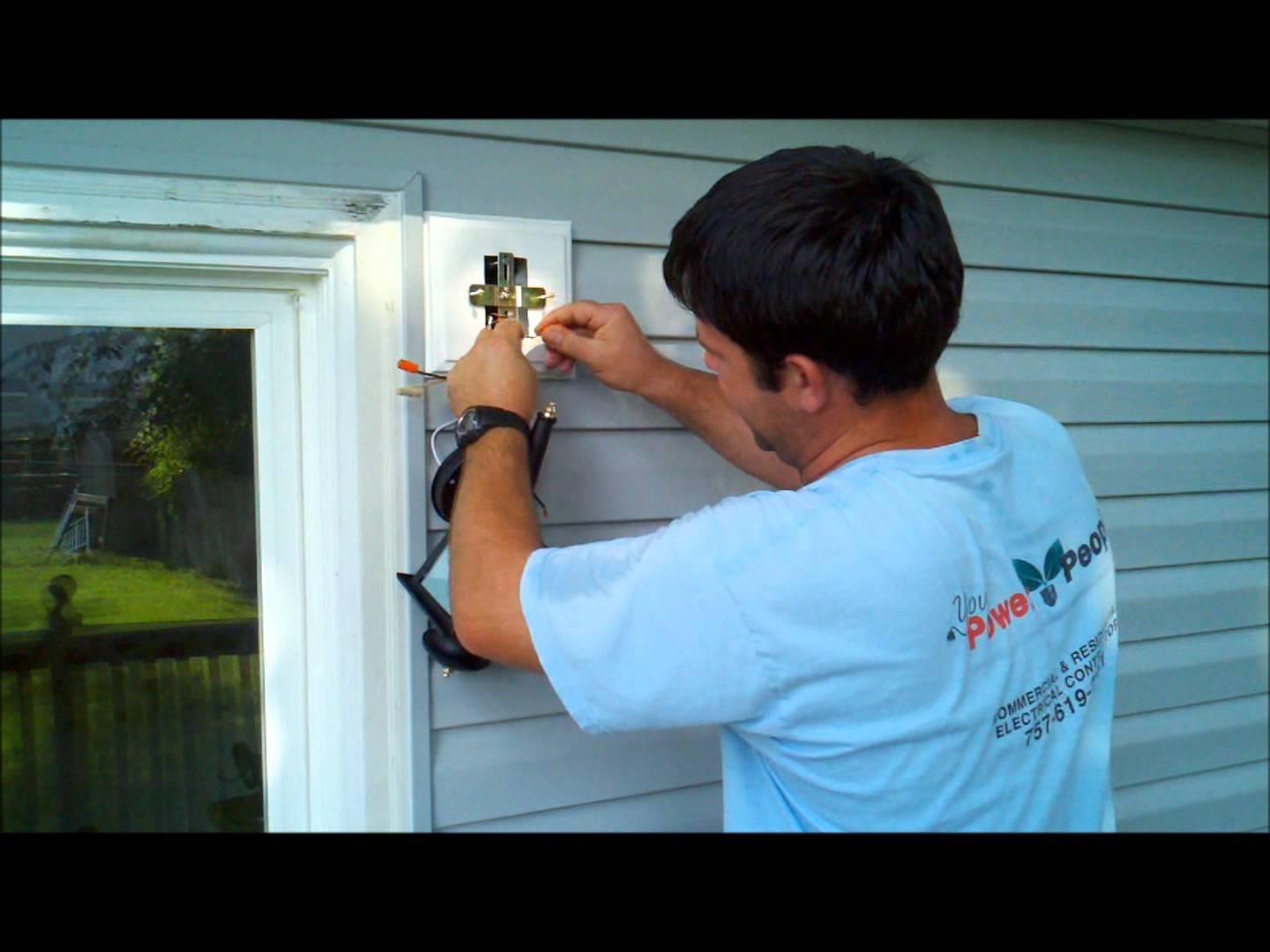 Installing Exterior Home Depot Or Lowes Light Fixture (#8 of 15)