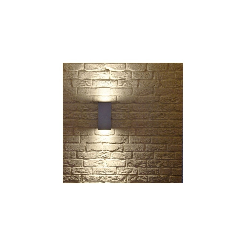 Intalite 229571 White Big Theo Up Down Outdoor Wall Light At Within Big Outdoor Wall Lighting (#6 of 15)