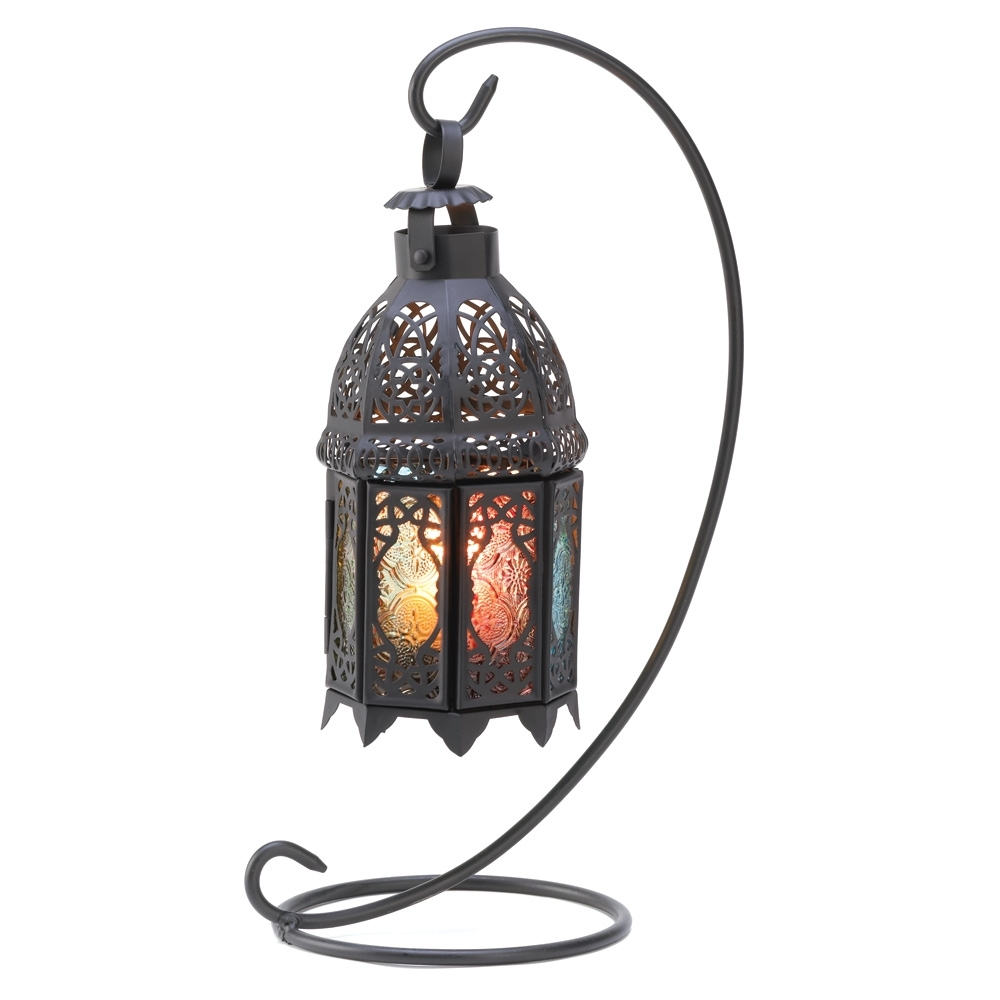 Inspiration about Interior : Wonderful Metal Candle Lantern Hanging Lanterns Indoor With Regard To Outdoor Hanging Lanterns With Stand (#2 of 15)