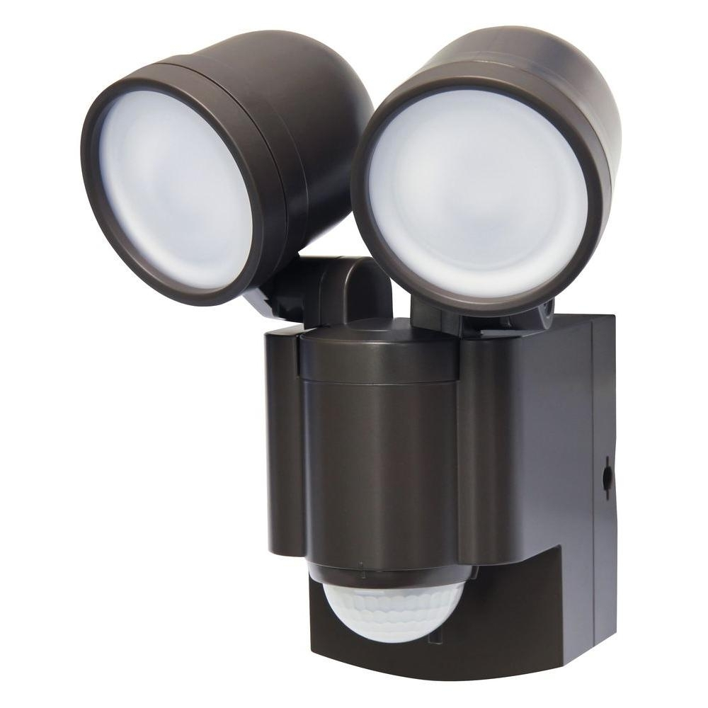 Inspiration about Iq America Bronze Motion Activated Outdoor Integrated Led Twin Flood Intended For Battery Operated Outdoor Lights (#14 of 15)