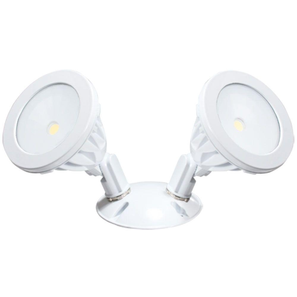 Irradiant Wall Mount 2 Light White Led Outdoor Flood Light Alv2 2H For Outdoor Ceiling Flood Lights (#8 of 15)
