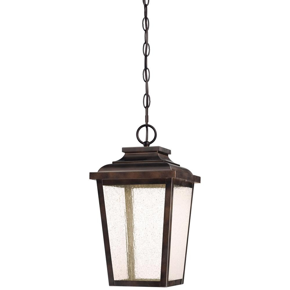 Inspiration about Irvington Manor Collection Outdoor Chelesa Bronze Integrated Led Throughout Led Outdoor Hanging Lanterns (#6 of 15)