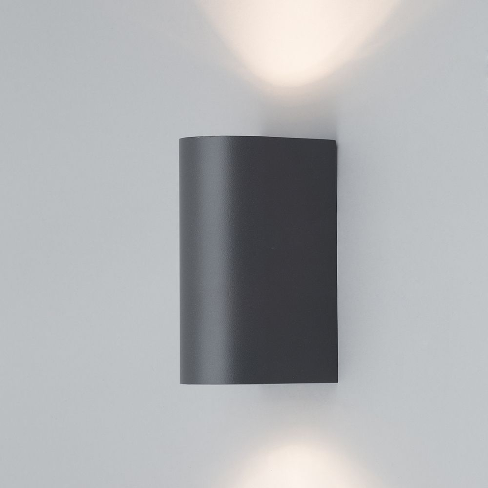 Inspiration about Irwell Up & Down Light Outdoor Wall Light – Black From Litecraft™ Throughout Grey Outdoor Wall Lights (#3 of 15)