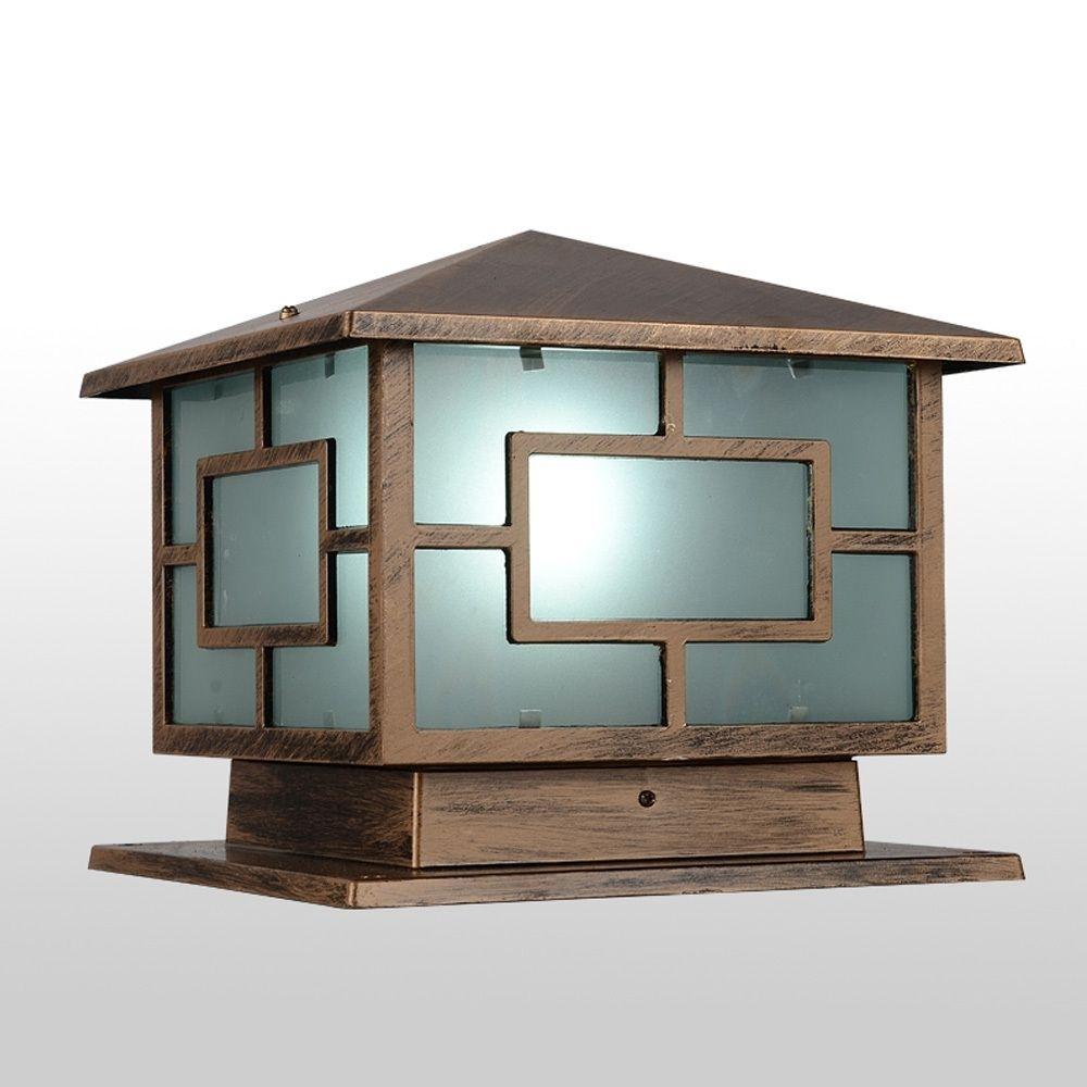Japanese Style Royal Wall Pillar Lamp Outdoor Garden Lighting Yard Regarding Japanese Outdoor Wall Lighting (#9 of 15)