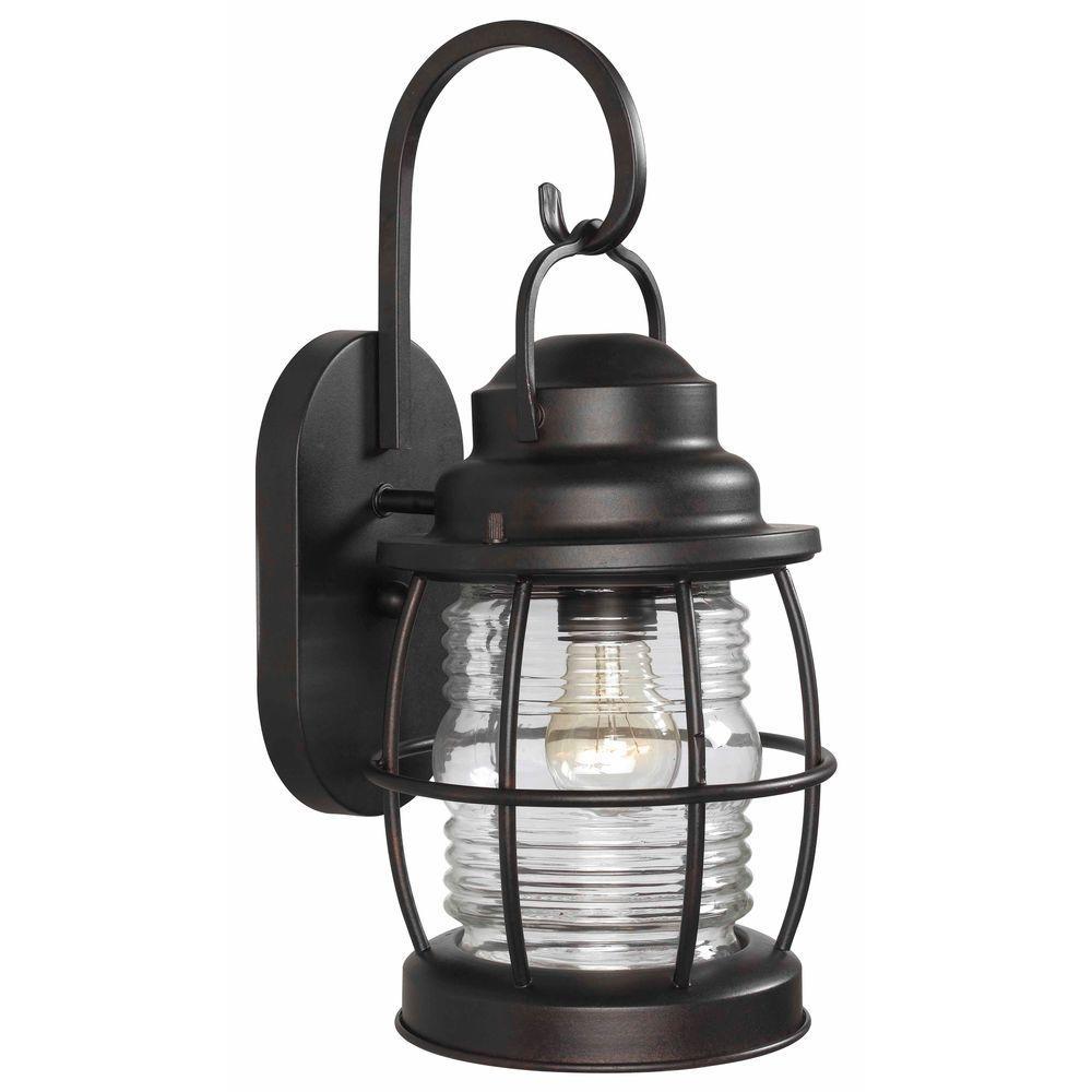 Kenroy Home Beacon 1 Light Gilded Copper Medium Wall Lantern 90952Gc Throughout Beacon Outdoor Wall Lighting (#5 of 15)