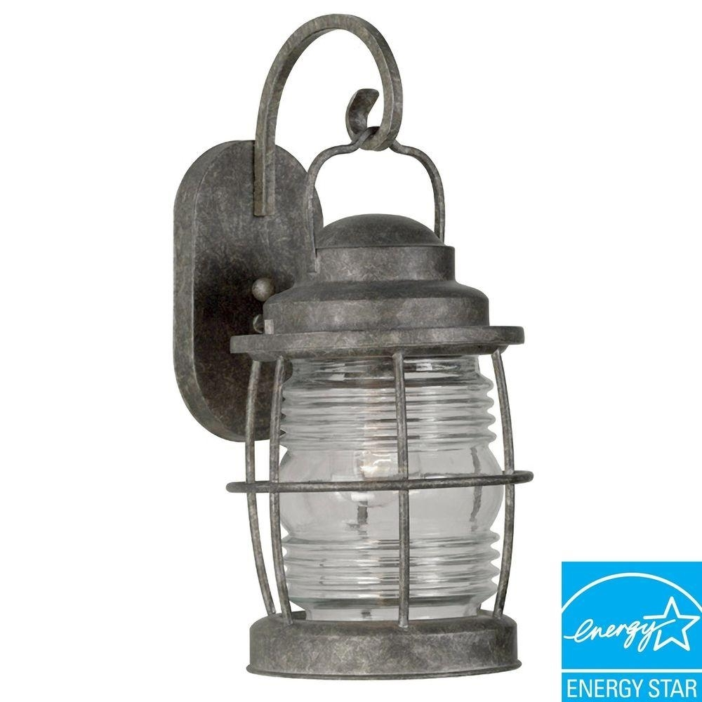 Kenroy Home Beacon Flint Large Indoor And Outdoor Wall Lantern With Regard To Beacon Outdoor Wall Lighting (#6 of 15)