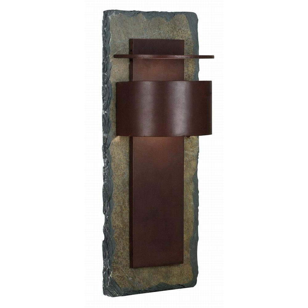 Kenroy Home Pembrooke Natural Slate Extra Large Lantern 70287Sl In Extra Large Outdoor Wall Lighting (#8 of 15)