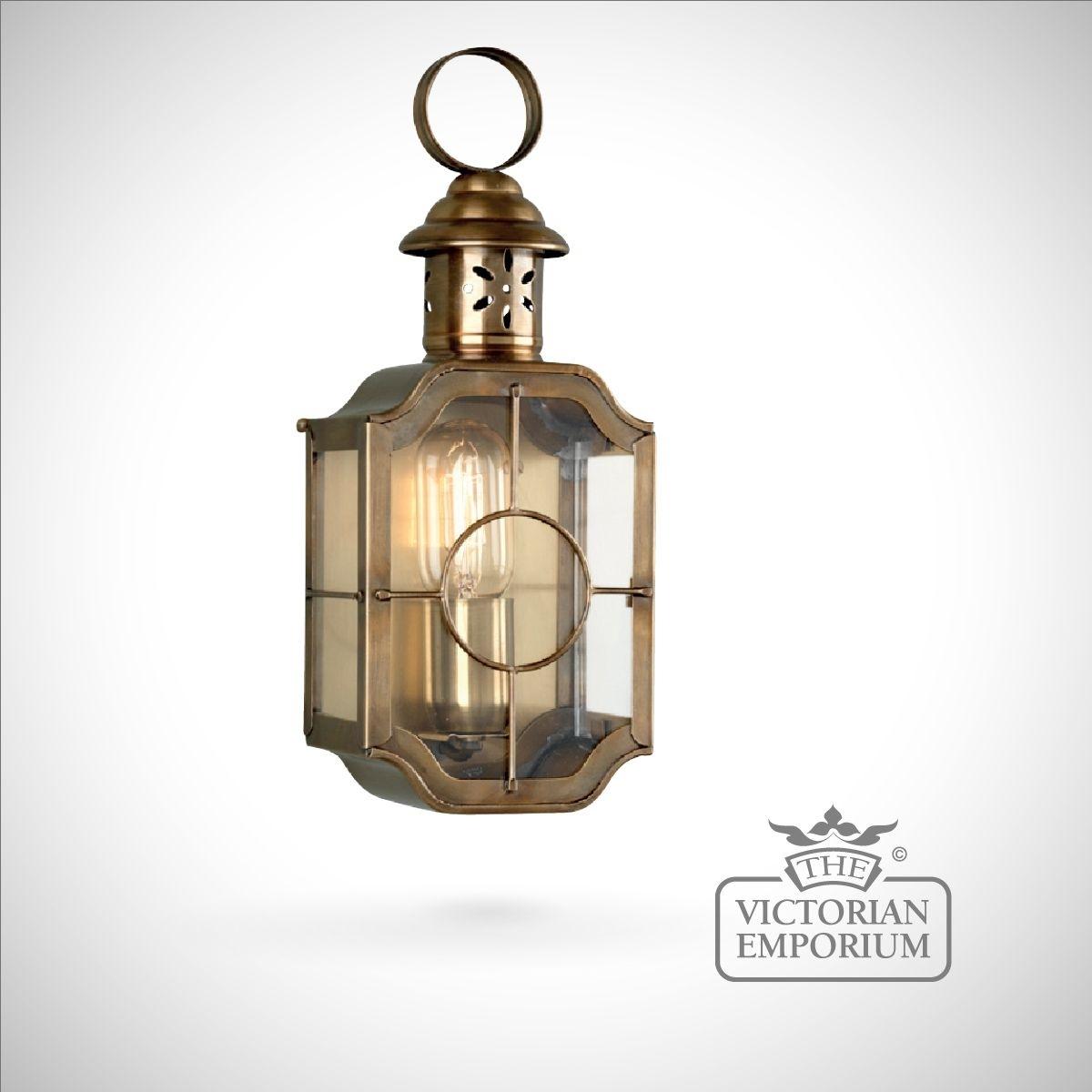 Kensington Wall Lantern – Antique Brass | Outdoor Wall Lights For Georgian Style Outdoor Lighting (#12 of 15)