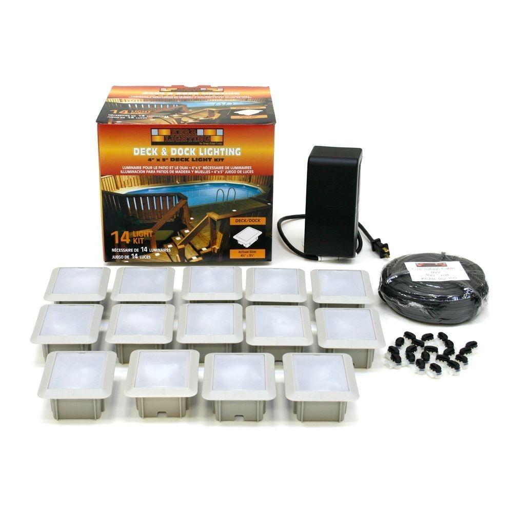 Kerr Lighting Deck/dock Mount 14 Light Outdoor Light Kit Kdec04 14 Within Garden Low Voltage Deck Lighting (#6 of 15)
