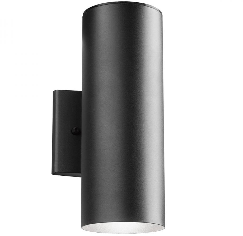 Kichler 11251Bkt30 Modern Textured Black Led Outdoor Sconce Lighting With Regard To Outdoor Wall Lighting At Kichler (#3 of 15)