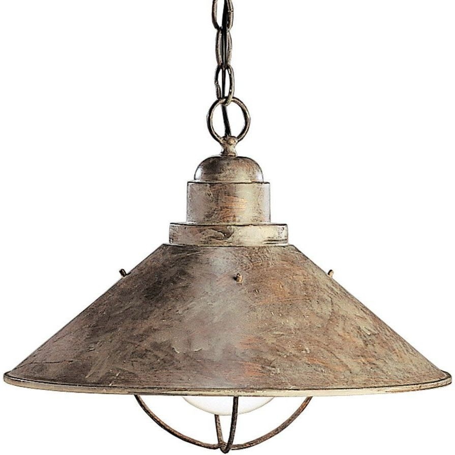 Inspiration about Kichler 2713Ob Seaside Olde Brick Pendants Lighting | Efaucets In Contemporary Rustic Outdoor Lighting At Wayfair (#6 of 15)