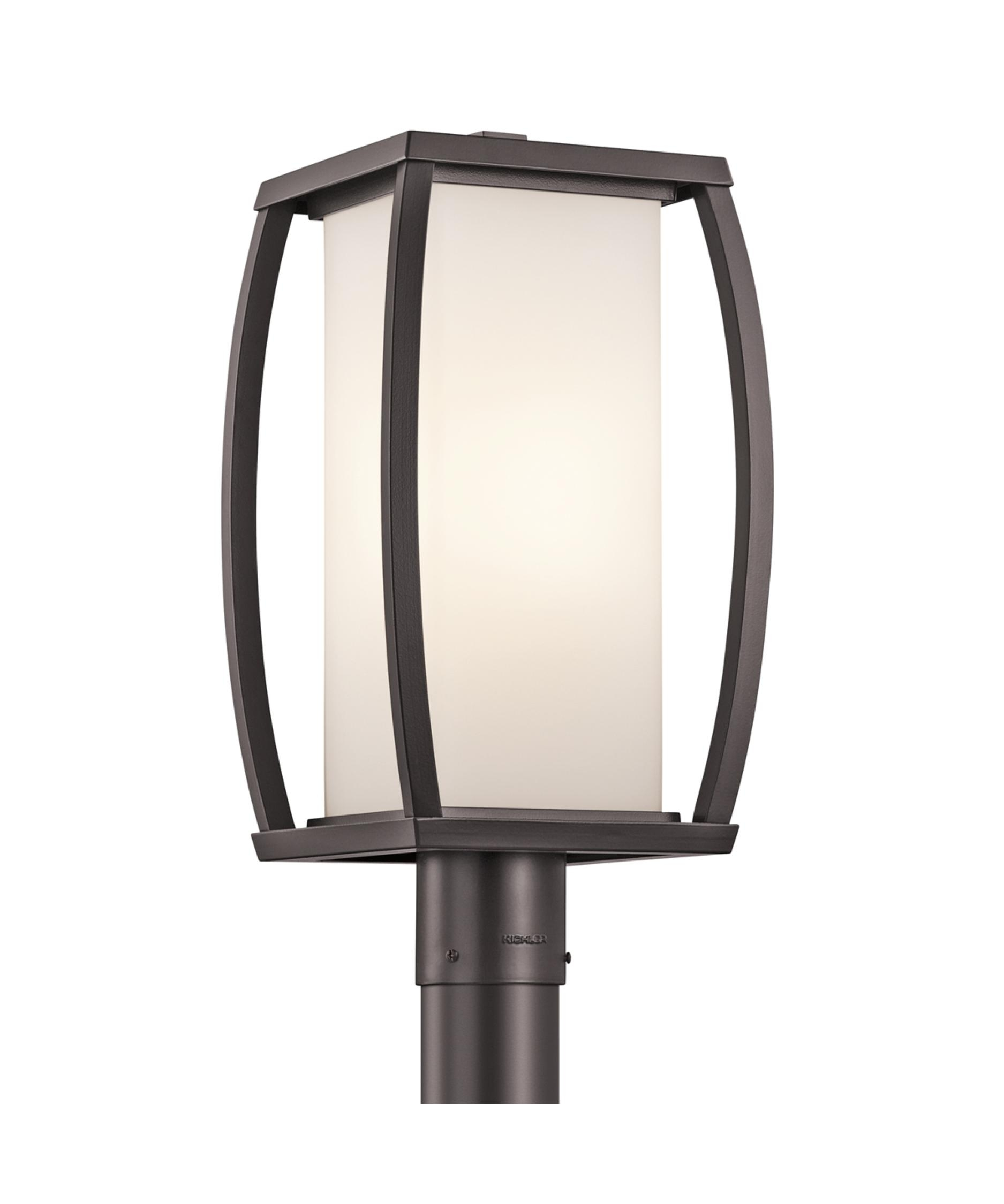 Kichler 49342 Bowen 9 Inch Wide 1 Light Outdoor Post Lamp | Capitol For Outdoor Post Lights Kichler Lighting (View 11 of 15)