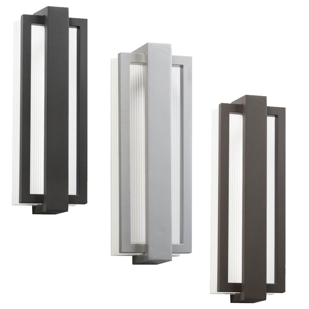 "Kichler 49434 Sedo Contemporary 6"" Wide Led Outdoor Wall Sconce Intended For Kichler Outdoor Lighting Wall Sconces (View 14 of 15)"