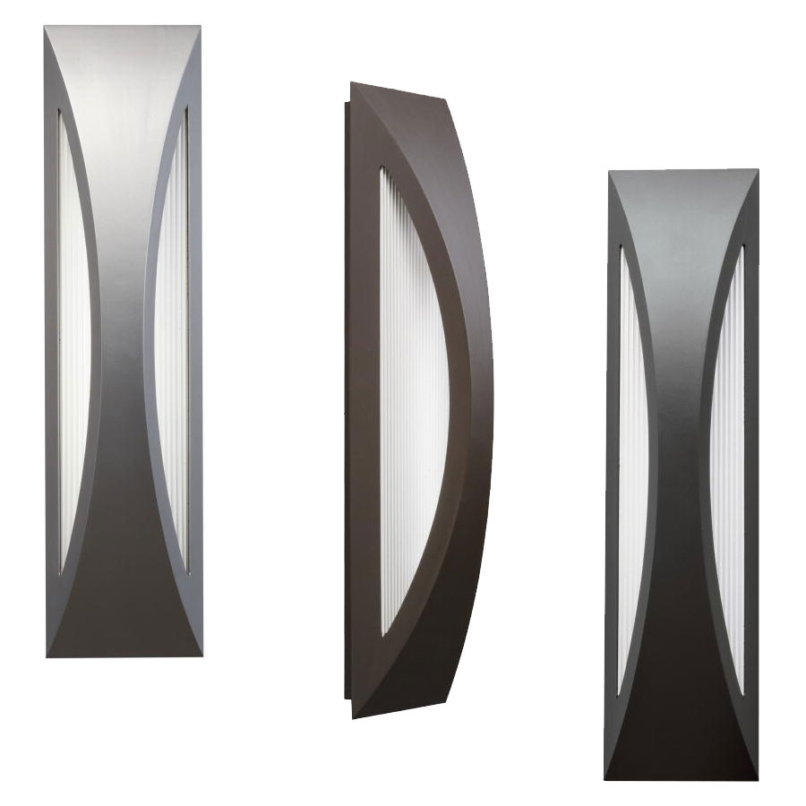 """Kichler 49437 Cesya Modern 24"""" Tall Led Exterior Wall Lighting With Regard To Outdoor Wall Led Lighting Fixtures (#4 of 15)"""