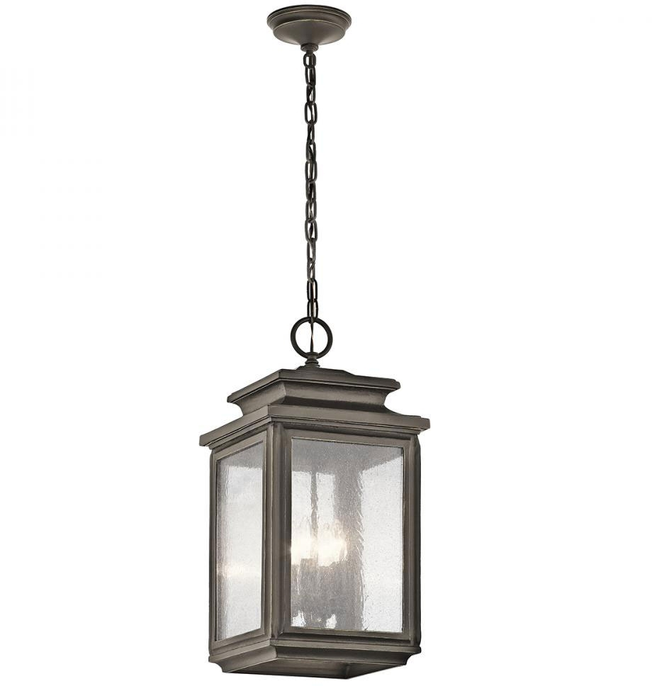 Kichler 49505Oz Wiscombe Park Olde Bronze Outdoor Hanging Pendant Within Outdoor Hanging Pendant Lights (#3 of 15)