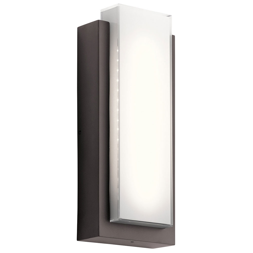Kichler 49557azled Dahlia Modern Architectural Bronze Led Outdoor Intended For Contemporary Outdoor Wall Lights (View 7 of 15)