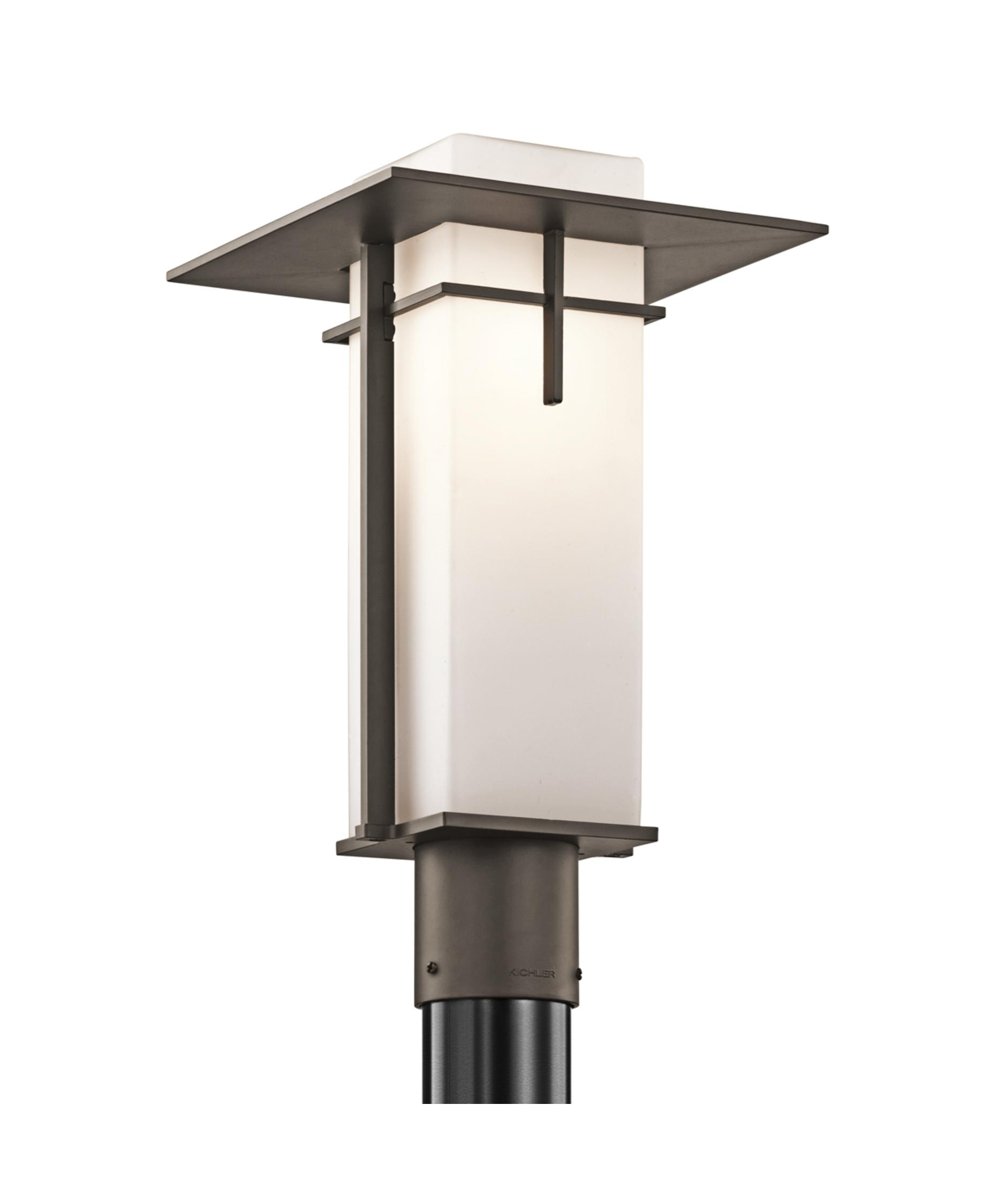 Kichler 49646 Caterham 10 Inch Wide 1 Light Outdoor Post Lamp Within Modern Outdoor Post Lighting (#7 of 15)